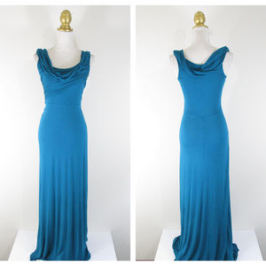 Plenty By Tracy Reese Solid Teal Maxi Dress